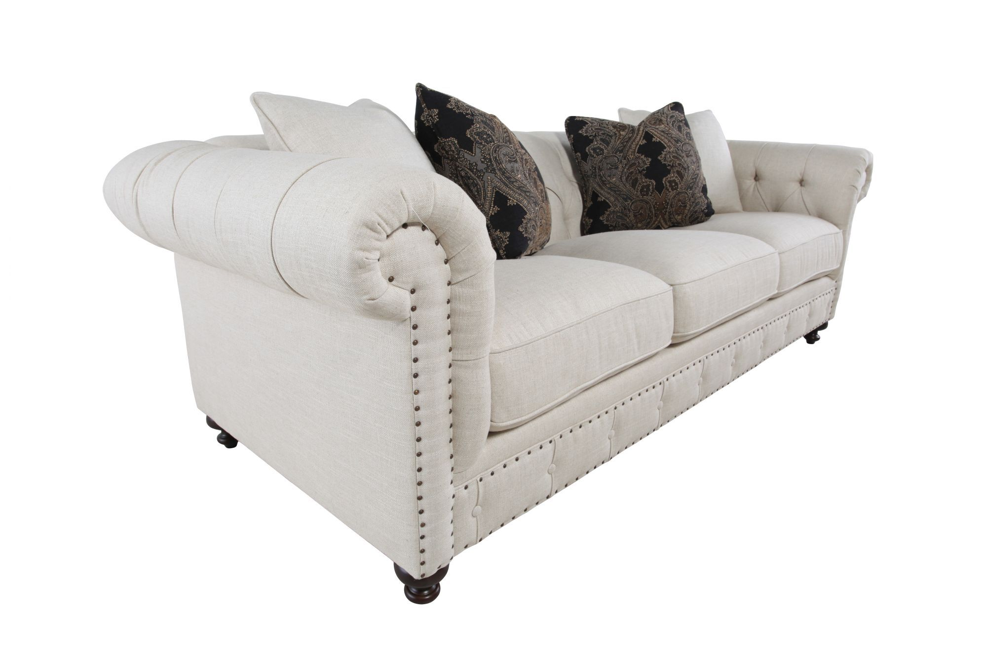 bernhardt riviera large sofa pics of decorated tables european classic button tufted in cream mathis