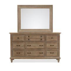 Sofas Tulsa Ok Sofa Furniture Design Images Two-piece Transitional Dresser & Mirror In Dovetail Gray ...