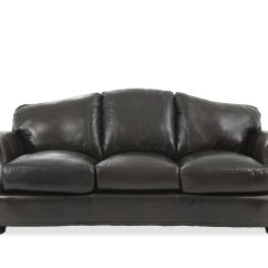 Black Leather Sofa With Nailheads Diy Patio Storage Nailhead Accented 92 In Mathis Brothers Furniture Images Quot