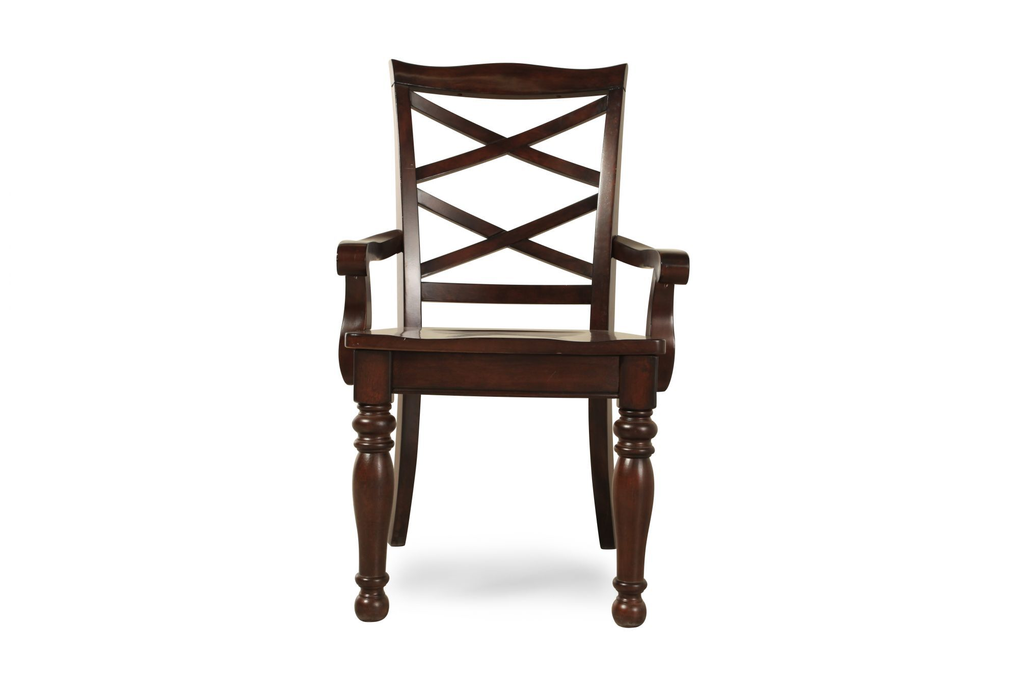 kitchen chairs wood hanging swing outdoor dining room mathis brothers furniture two piece double x back 40 39 arm