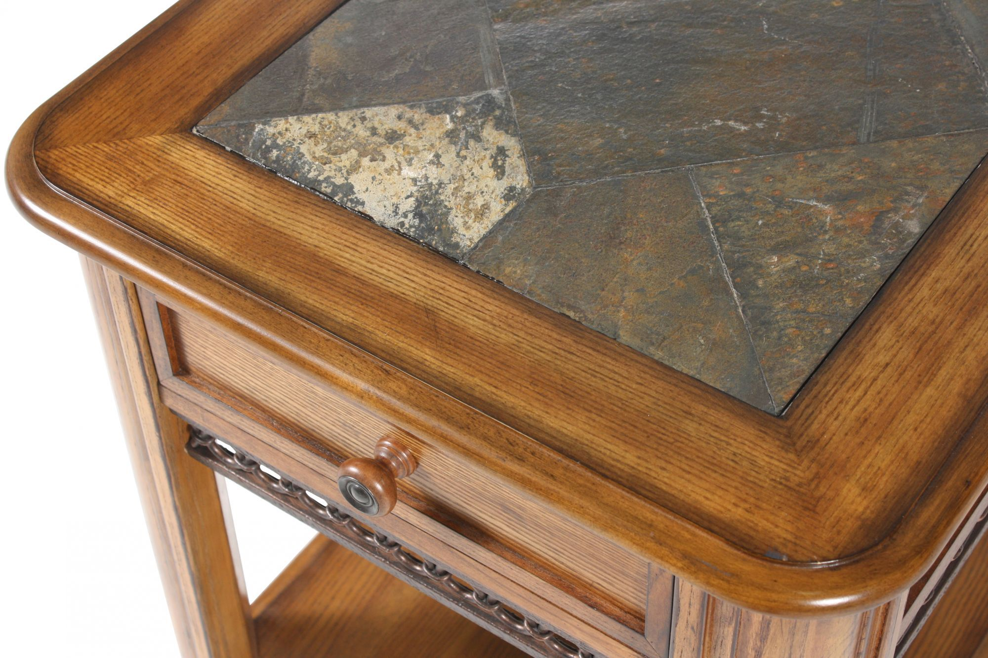 slate sofa table big lots case traditional inset end in rustic oak mathis