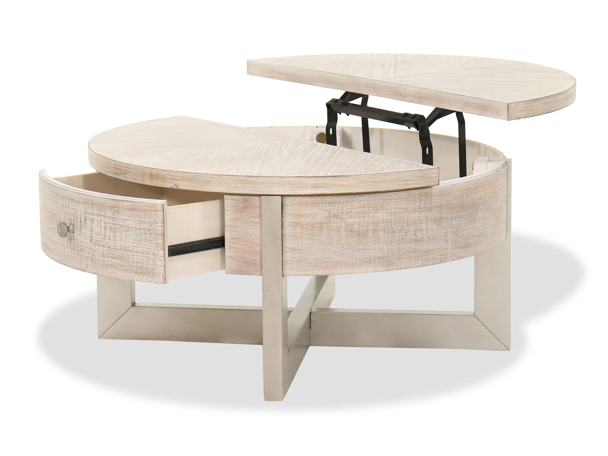 contemporary lift top cocktail table in