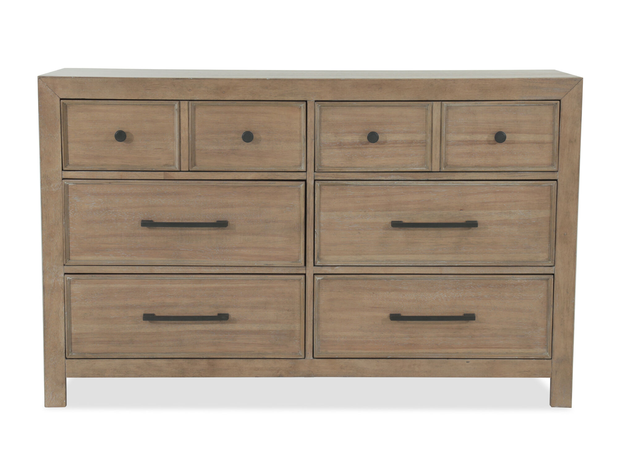 EightDrawer Contemporary Youth Dresser in Light Brown