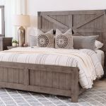 Rustic Farmhouse Panel Bed In French Gray Mathis Brothers Furniture
