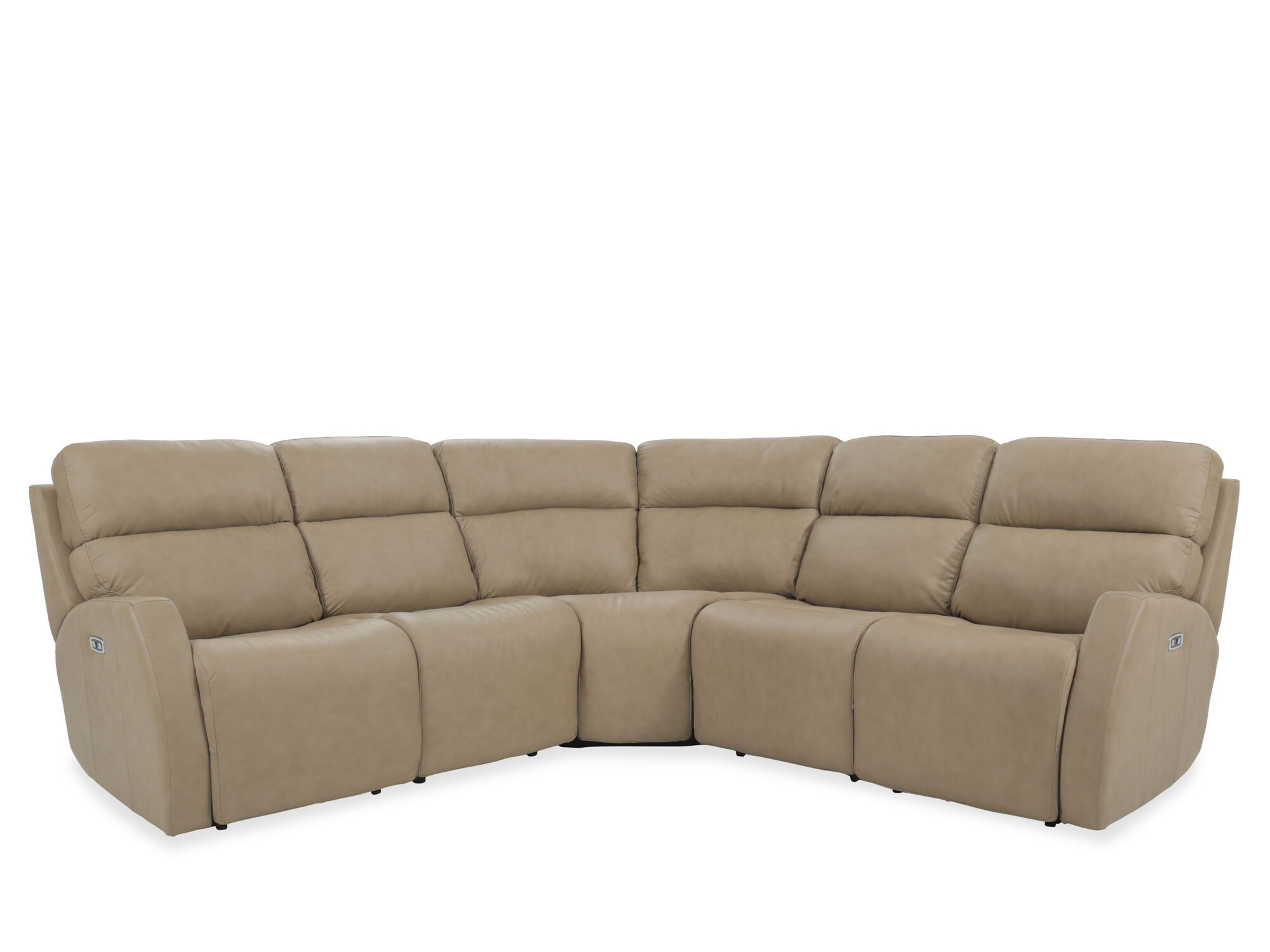 light brown leather reclining sofa sleeper reviews 2017 three piece 107 quot power sectional in
