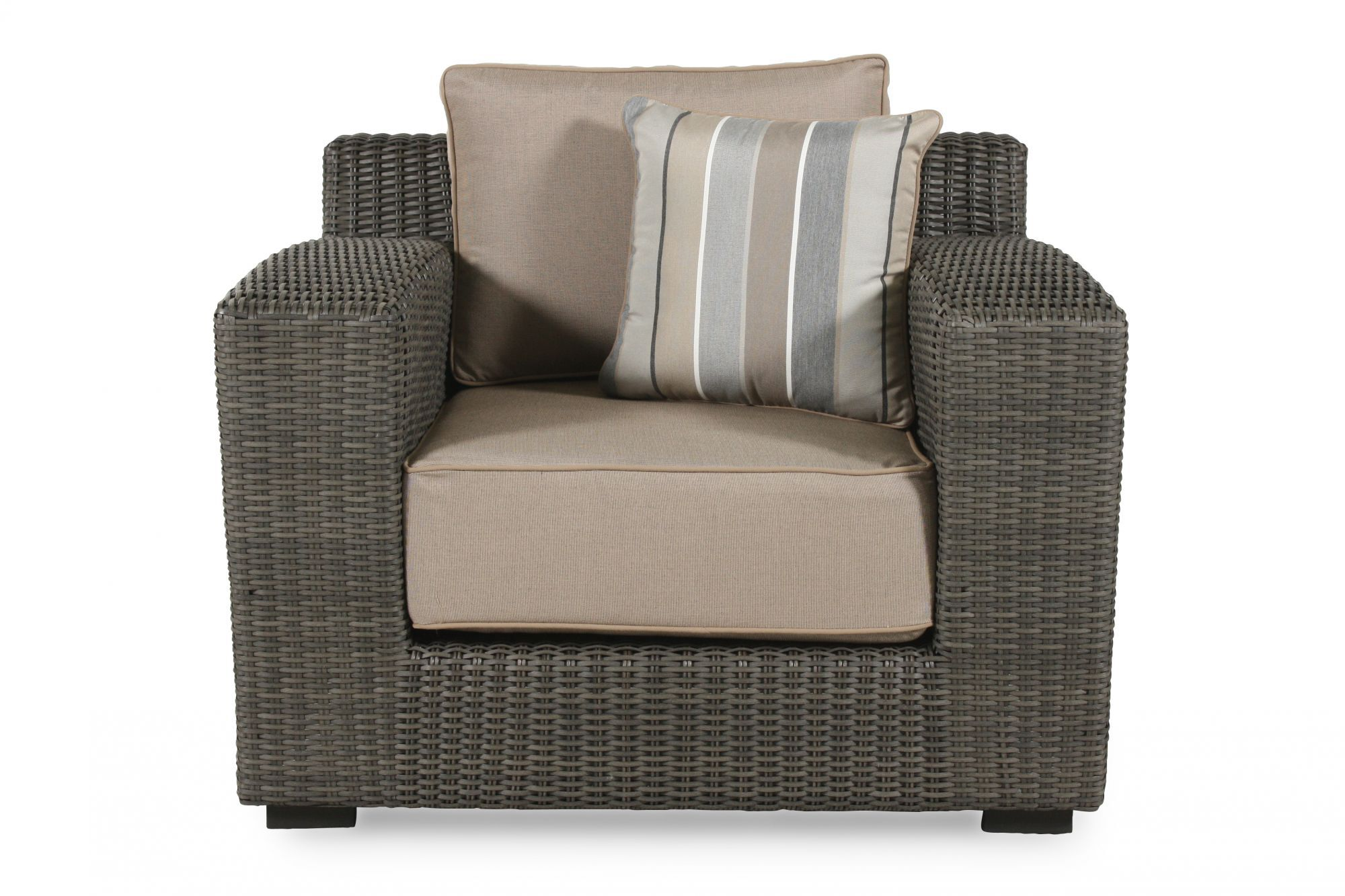 LowProfile Casual Lounge Chair in Dark Gray  Mathis