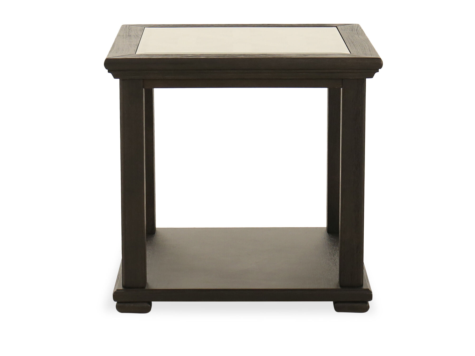 Casual Square End Table In Black Mathis Brothers Furniture