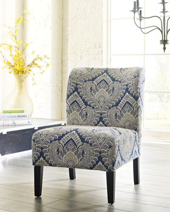 Patterned Contemporary 22 Accent Chair in Cream  Mathis
