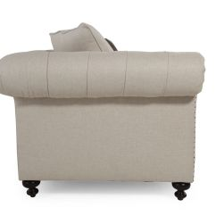 Bernhardt Riviera Large Sofa Tight Back Rolled Arms | Mathis Brothers Furniture