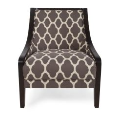 Home Decor Accent Chairs Banquet Chair Covers Rental Quatrefoil Patterned Contemporary 28 Quot In Dove