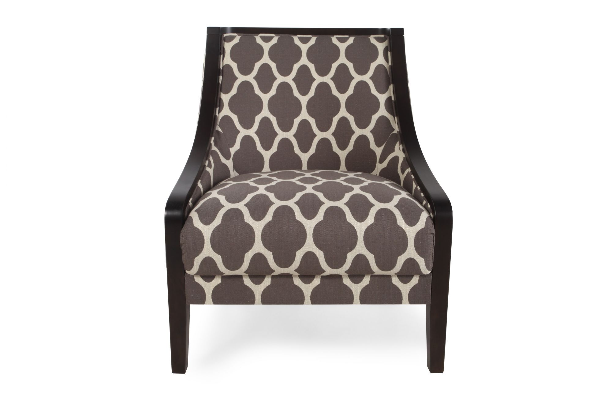 Quatrefoil Patterned Contemporary 28 Accent Chair in Dove
