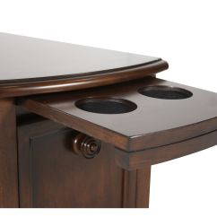 Chair Side End Table With Cup Holder Dressing Room Chairs Wooden Small