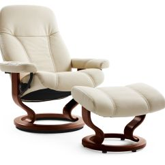 Bedroom Chair With Ottoman Adirondack Rocking Chairs Leather Medium Swivel And In Cream | Mathis Brothers Furniture