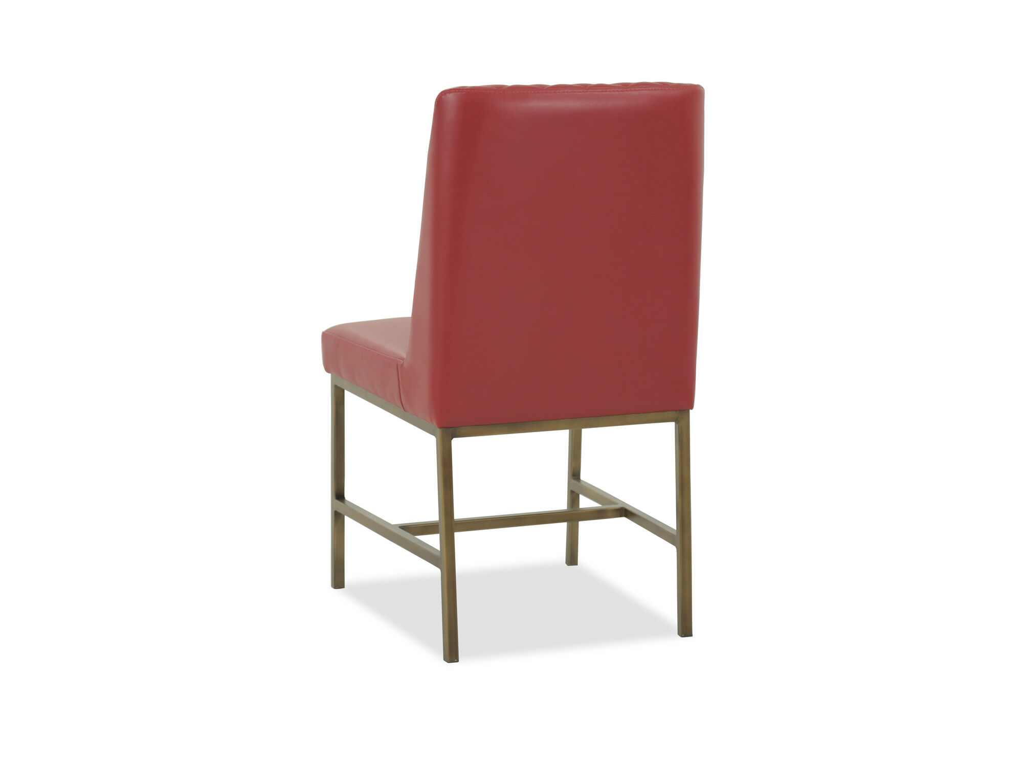 red tufted dining chair desk chairs without wheels modern 20 in mathis brothers furniture supported on a durable metal base this casual style displays dazzling tone that gives refreshed look to your space