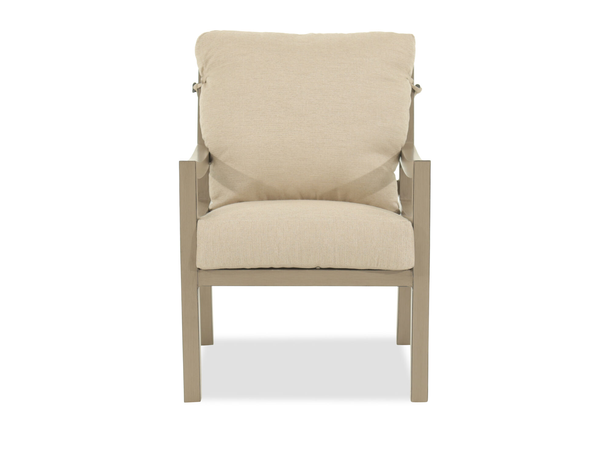 Casual Dining Chair with Cushion in Beige