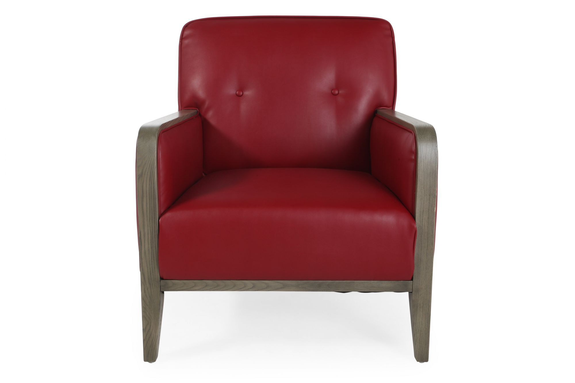 ButtonTufted Contemporary 30 Accent Chair in Red