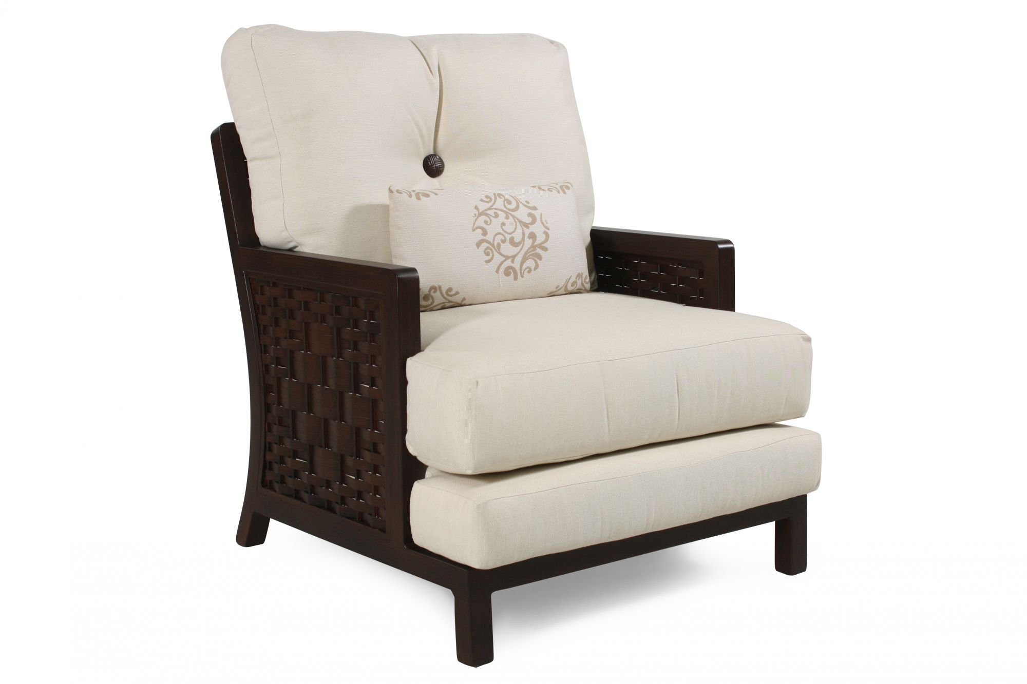 cream lounge chair hercules folding button tufted aluminum patio in