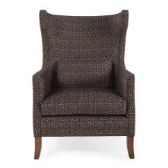 Patterned Living Room Chairs Plastic Chair Glides For Metal Geometric European Classic 31 Quot In Cocoa