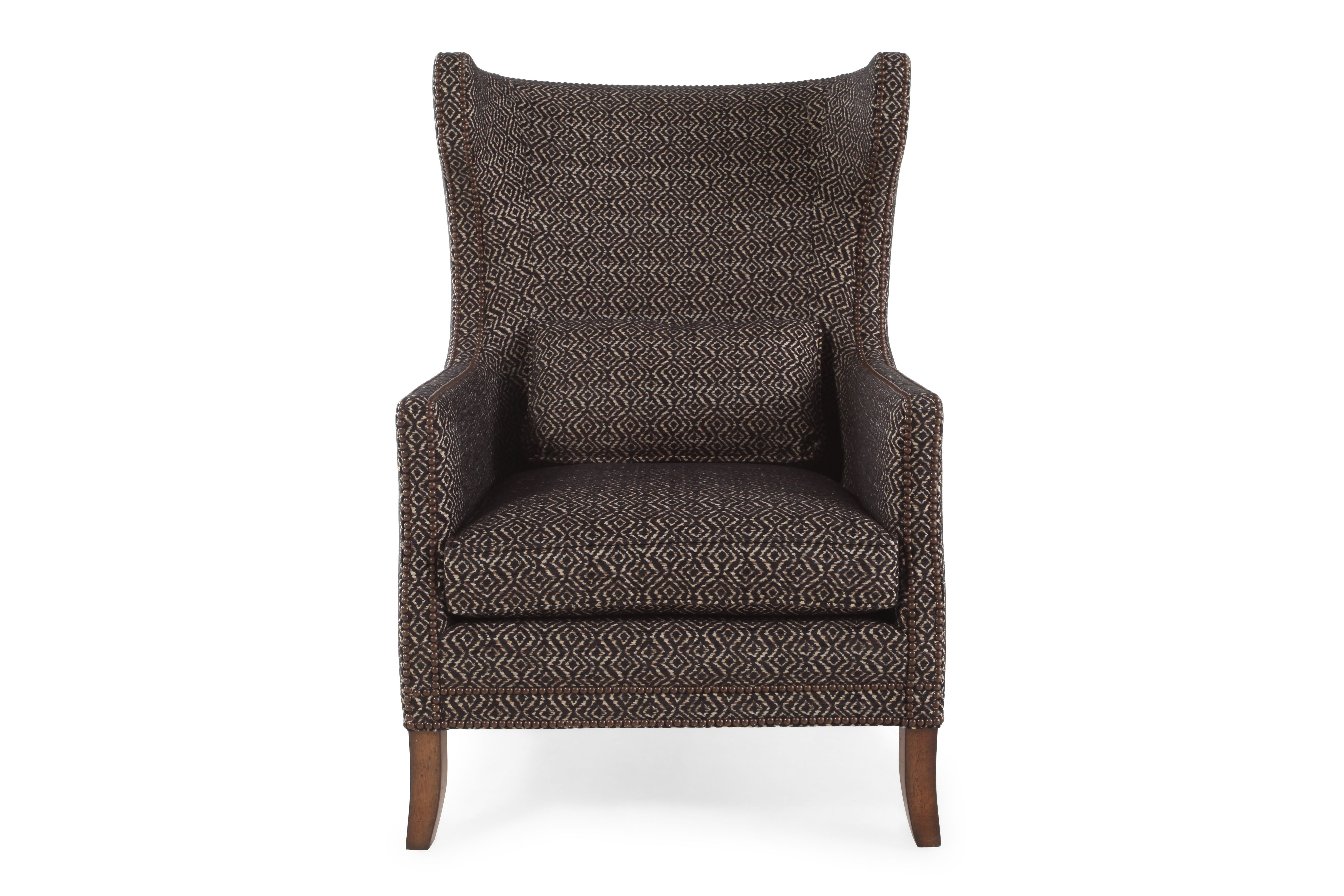 Geometric Patterned European Classic 31 Chair in Cocoa