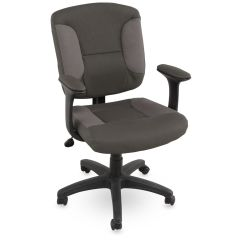 Swivel Office Chair Base Big Covers Height Adjustable Task In Gray Mathis