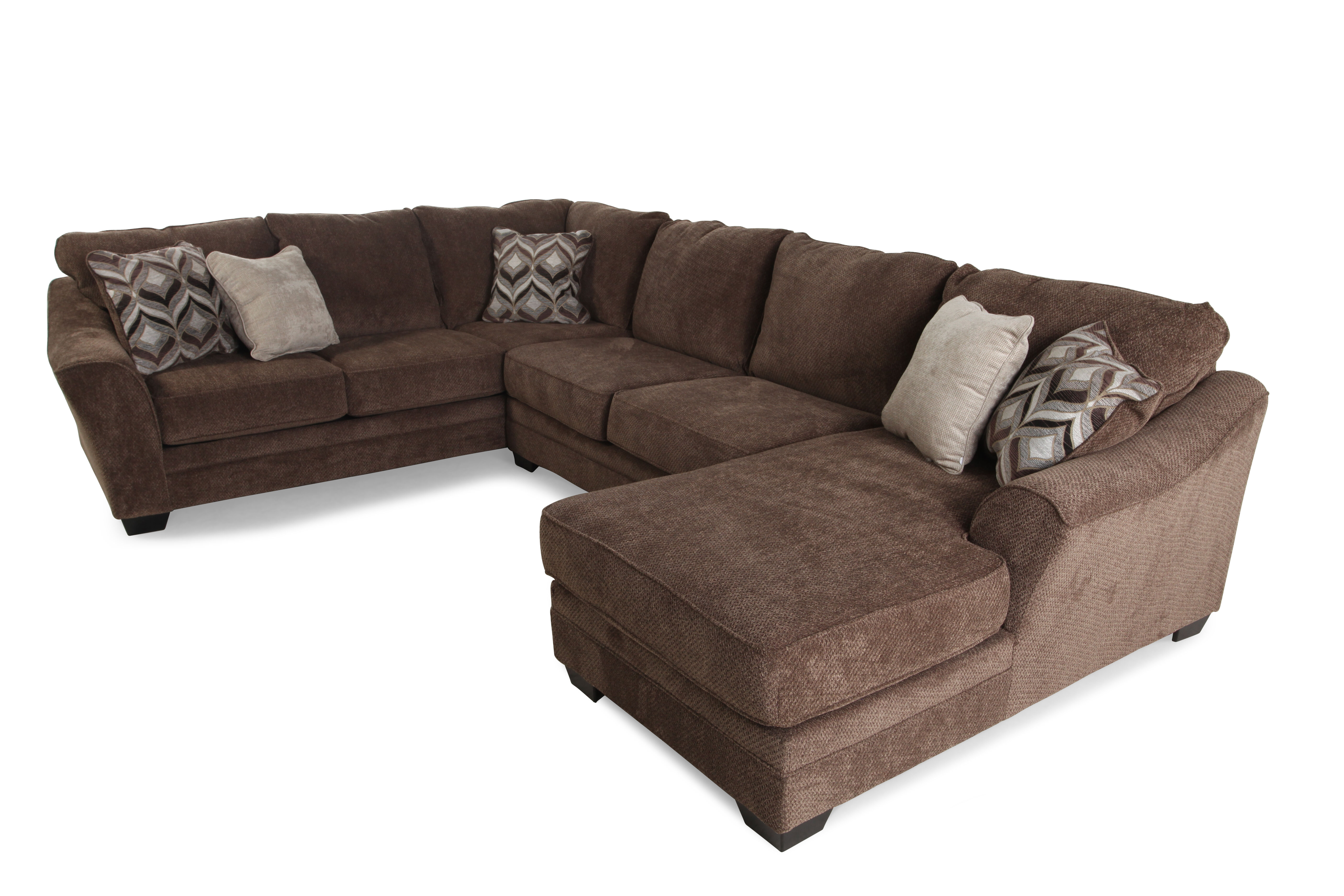 tosh furniture dark brown sofa set sears canada slipcovers three piece contemporary 101 quot sectional in
