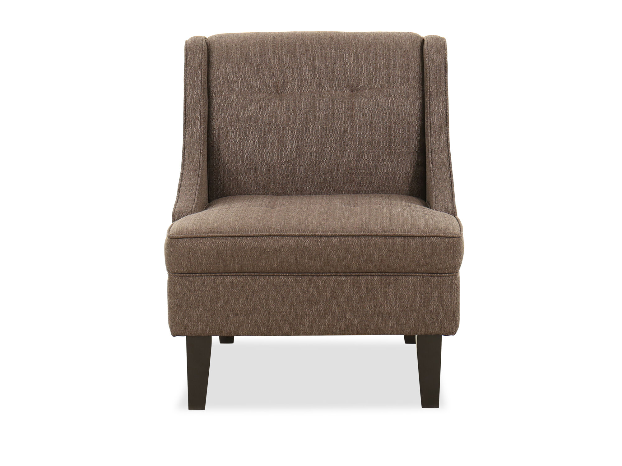 Tufted Contemporary 28 Accent Chair in Dark Rust Gray