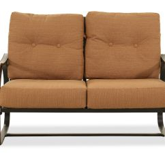 Button Tufted Sofas Retro Melbourne Aluminum Loveseat In Brown Mathis Brothers