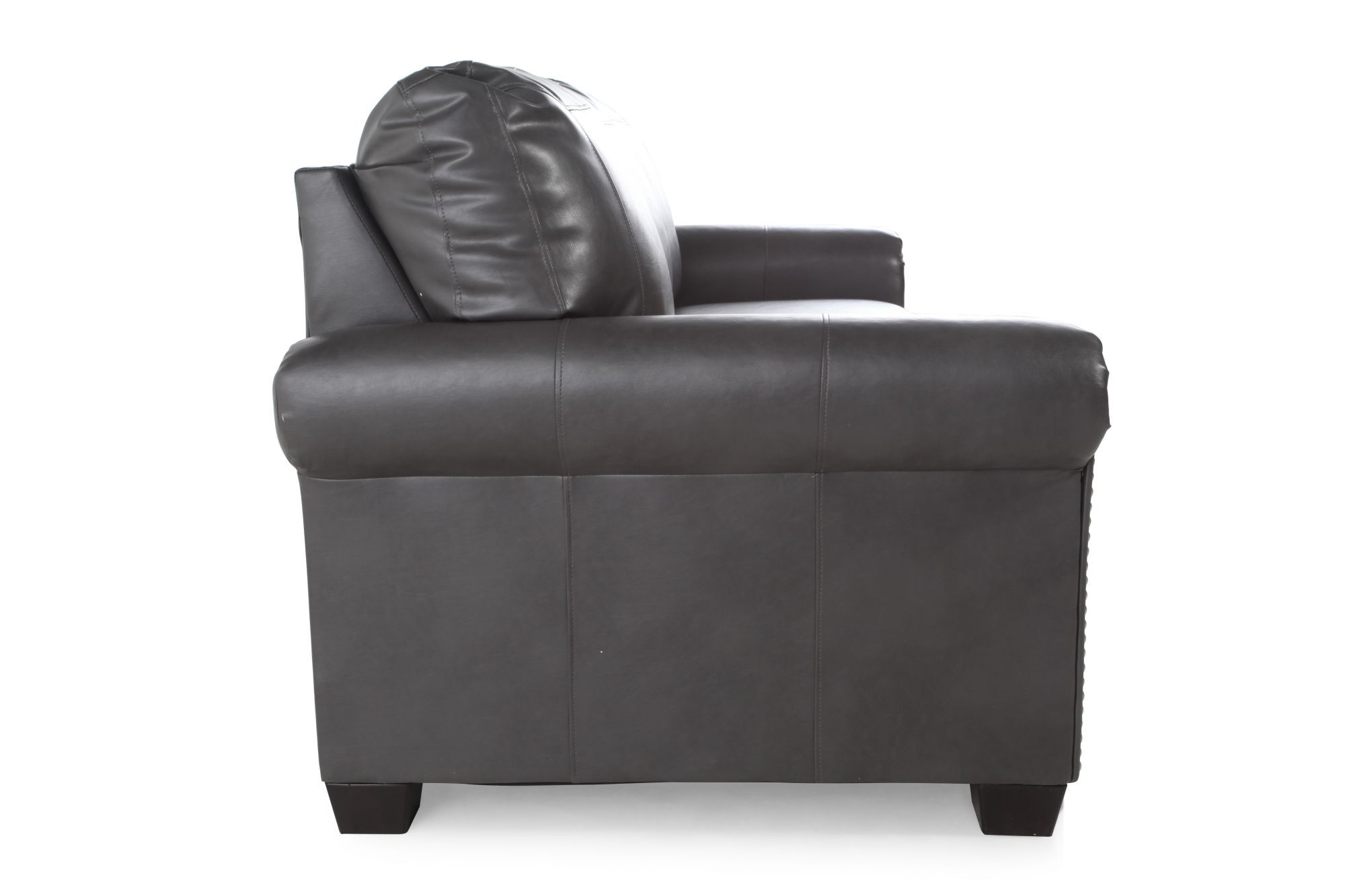 leather sleeper sofa with nailheads pottery barn buchanan review nailhead accented 78 mathis brothers furniture
