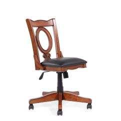 Oval Office Chair Zero Gravity Lounge Costco Leather Open Back Swivel Tilt In Cherry