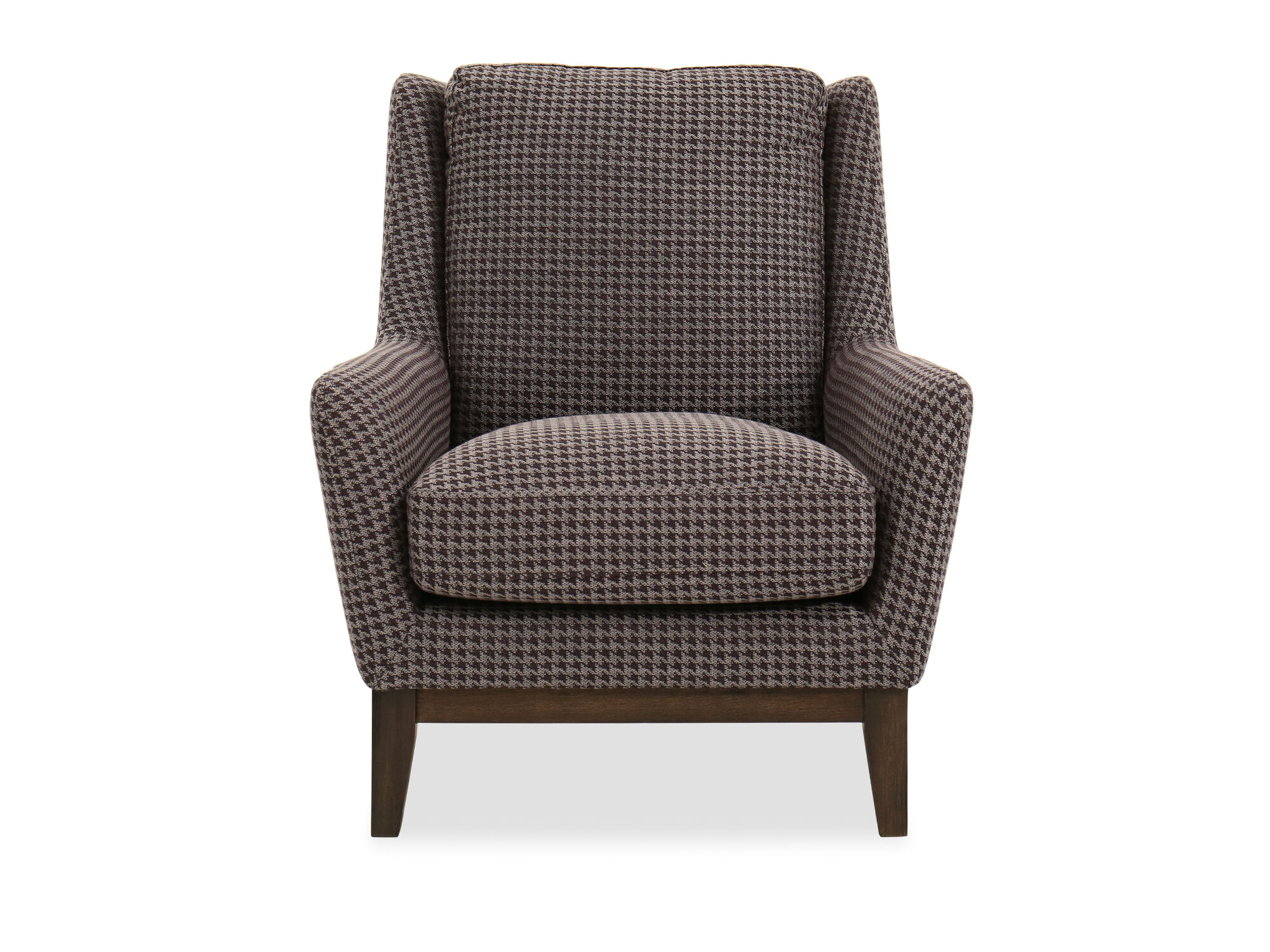 patterned living room chairs how to tie a person chair houndstooth casual 33 quot in brown mathis
