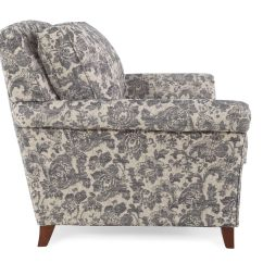 Patterned Living Room Chairs Wheelchair Basketball Rules Floral Traditional 39 Quot Chair In Gray Mathis