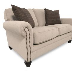 Milari Sofa Ashley Furniture Sectional With Built In Corner Table Nailhead Trimmed Casual 67 Quot Loveseat Gray Mathis