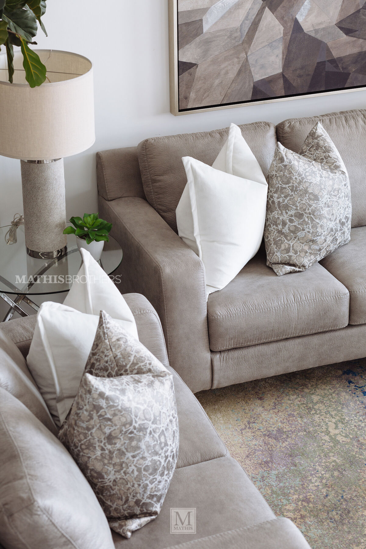 Modern 85 Sofa In Steel Mathis Brothers Furniture