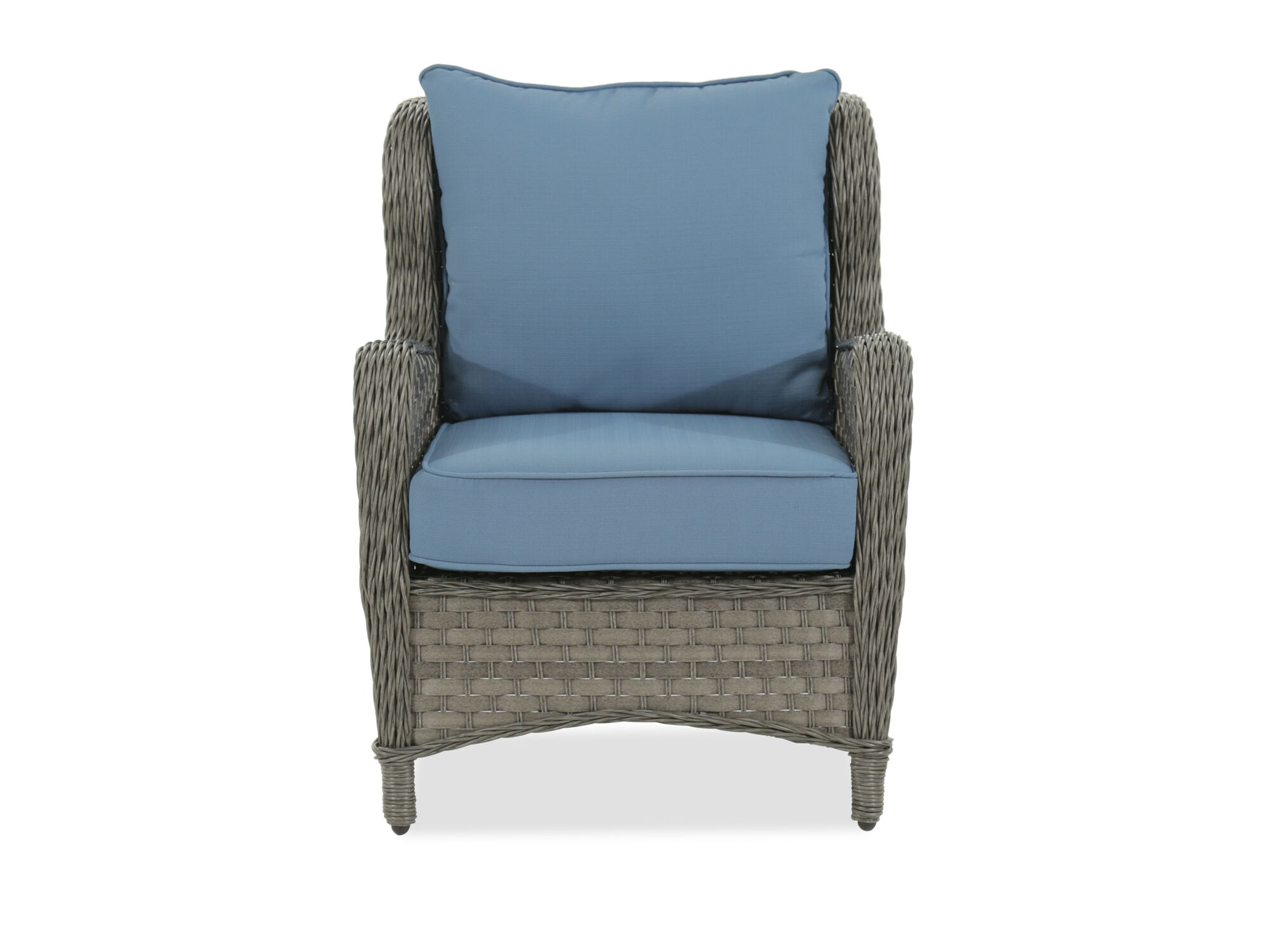 woven lounge chair pads for wood floors aluminum in blue mathis