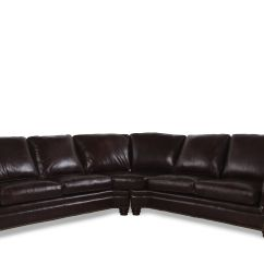 2 Piece Brown Leather Sofa Sofas Costa Del Sol Two 232 Quot Nailhead Accented Sectional In