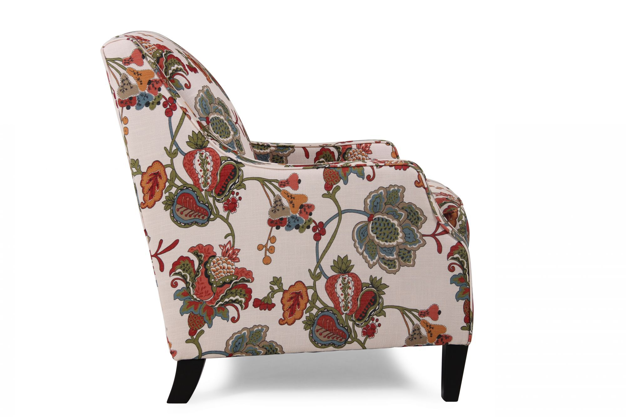 home decor accent chairs mickey mouse sofa chair floral patterned transitional 30 quot in cream