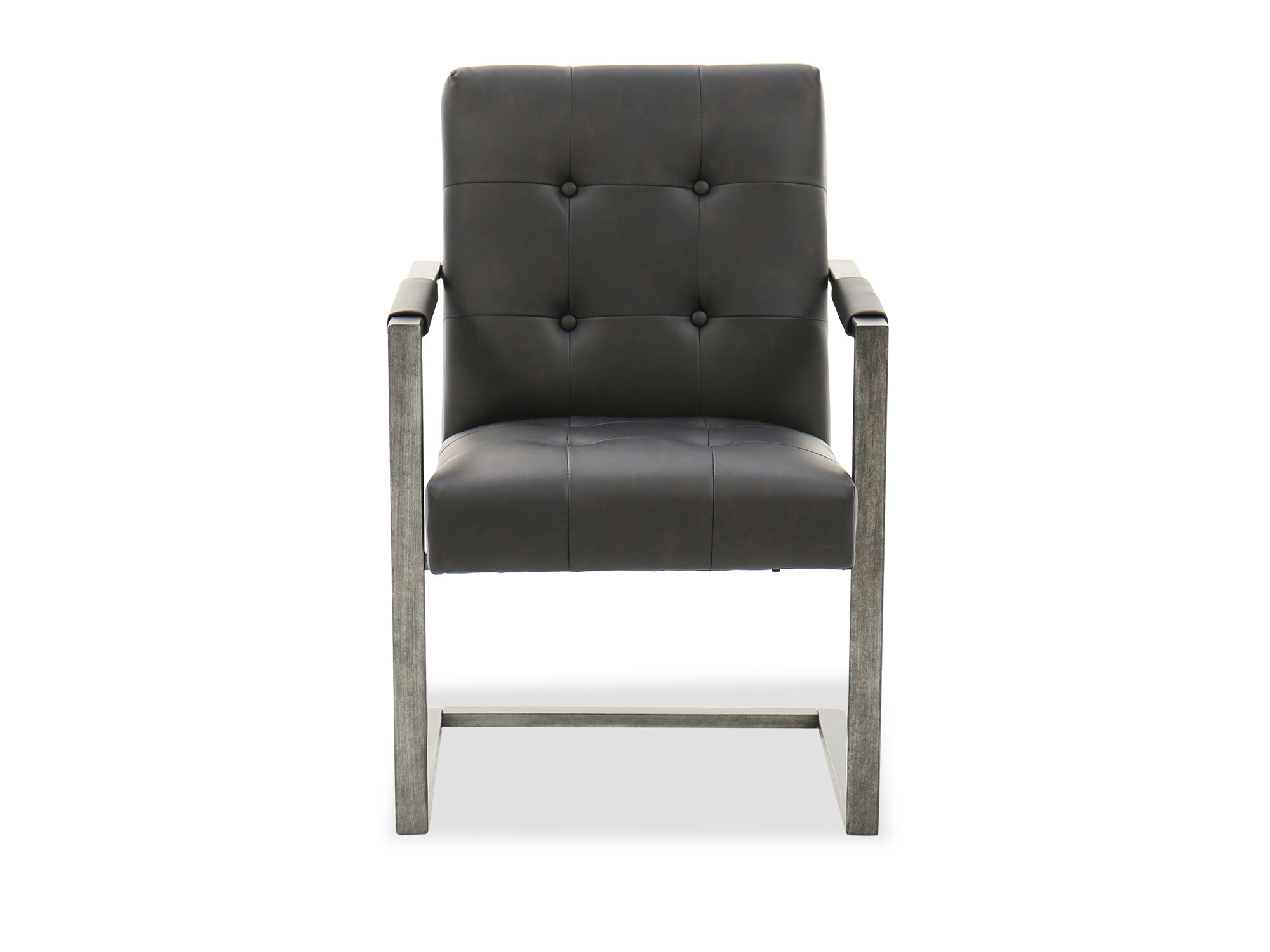 tufted desk chair the outlet portland button in blackened gunmetal mathis brothers furniture