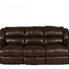 Nailhead Recliner Sofa Steel Table Traditional Accented 89 Quot Reclining In Brown