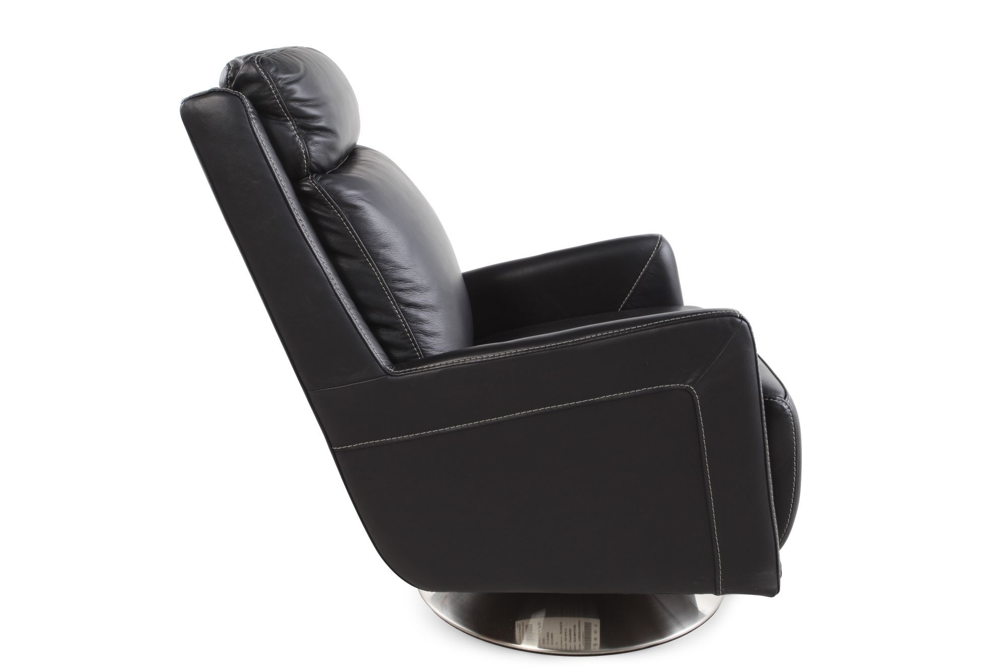 swivel chair black oversized accent tall back leather in mathis brothers
