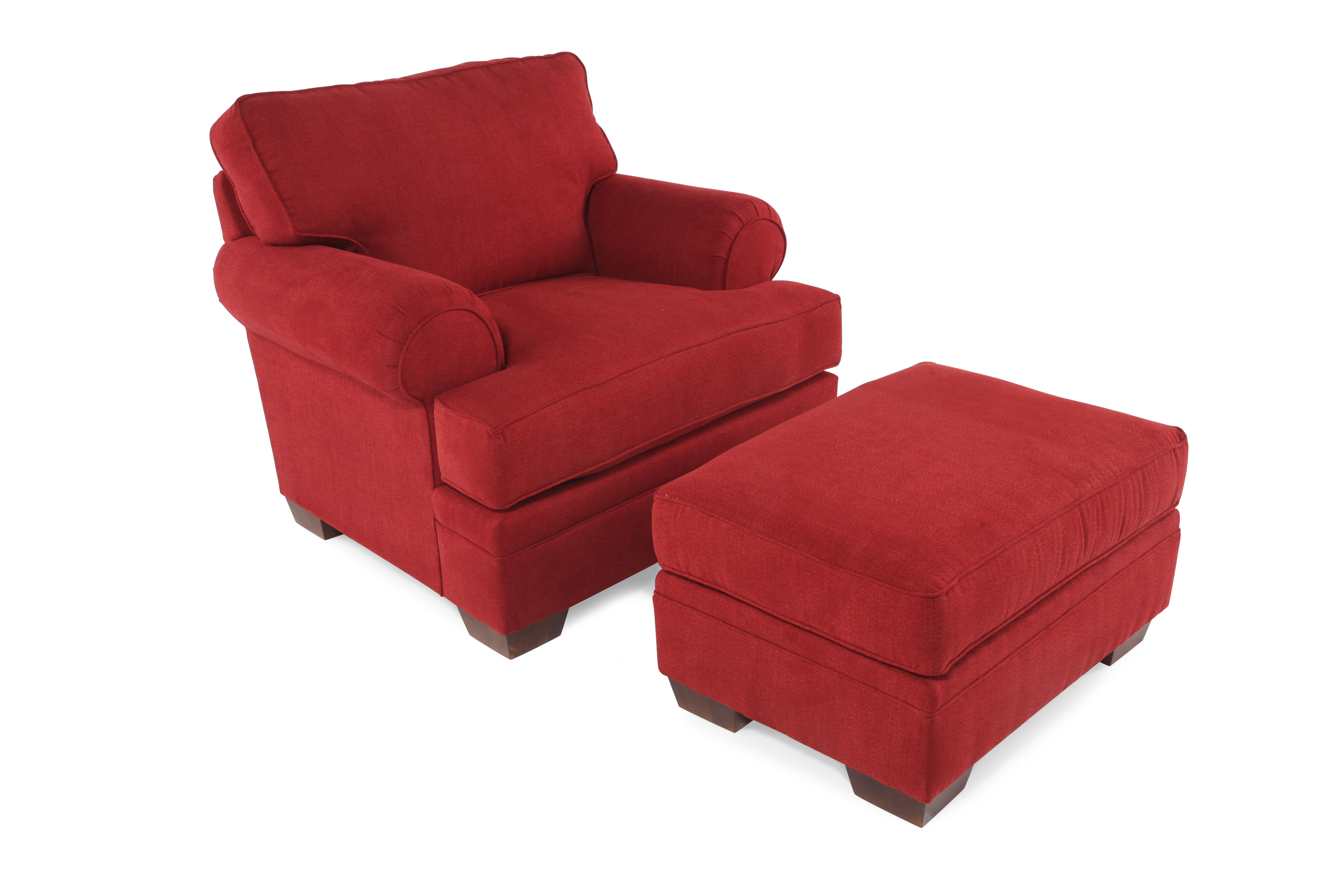 red chair and ottoman kitchen chairs canada traditional in mathis brothers