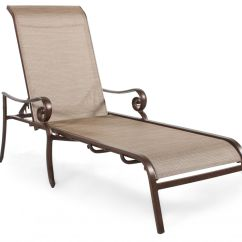 Sling Chaise Lounge Chair Www Folding Chairs Roll Arm Aluminum In Brown Mathis