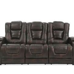 Reclining Sofa Leather Brown Macys Sofas Sectionals 84 Power With Cup Holder In Mathis Brothers Furniture
