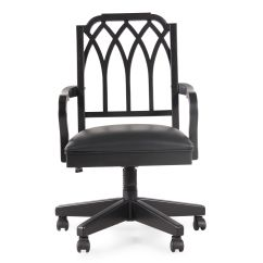 Cathedral Chairs Pride Lift Chair Parts Diagram Splat Back Swivel Tilt Office In Black