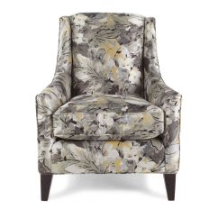 Traditional Wingback Chair Best Canoe Floral Patterned 29 5 Mathis Brothers Furniture