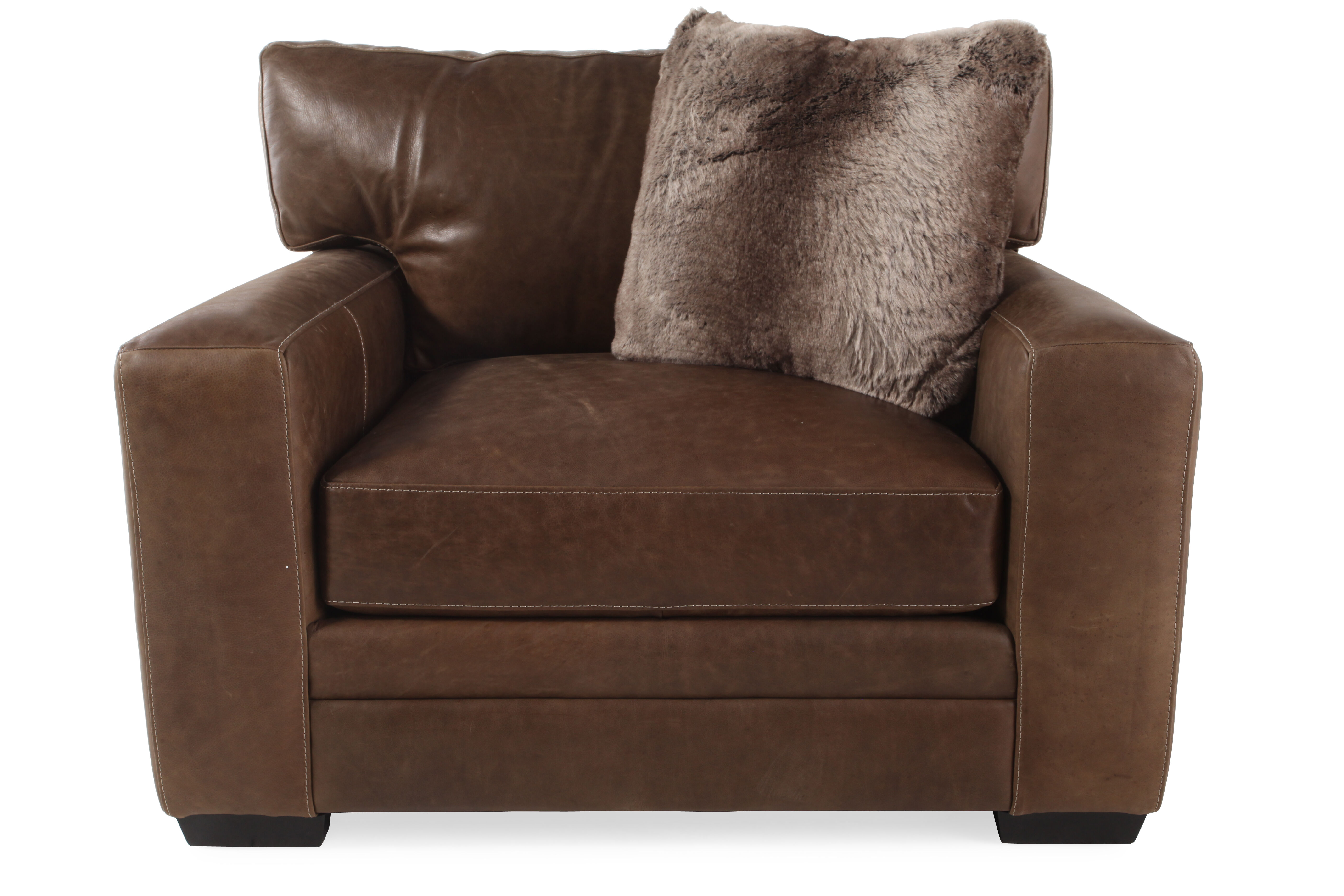 LowProfile Leather 47 Chair and a Half in Brown  Mathis