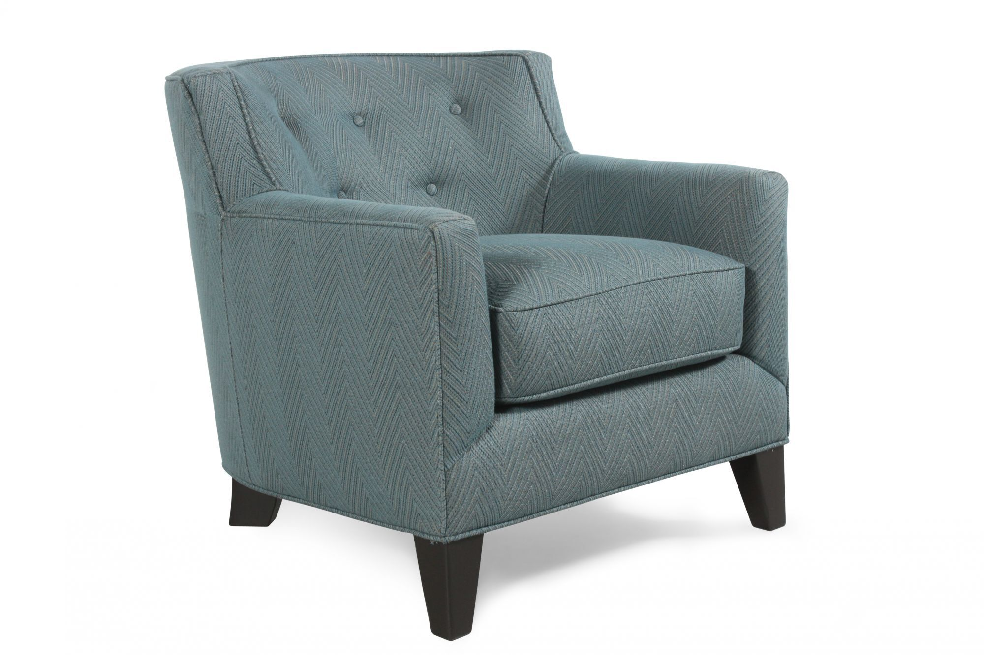 teal tufted chair swivel shower with back and arms button herringbone accent in mathis