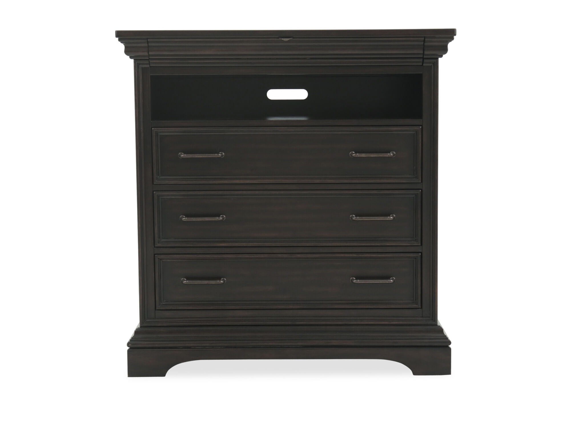 46 Traditional FourDrawer Media Chest in Black  Mathis