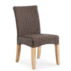 Woven Dining Chair Gym Ball For Sale Weather Resistant Casual In Dark Brown