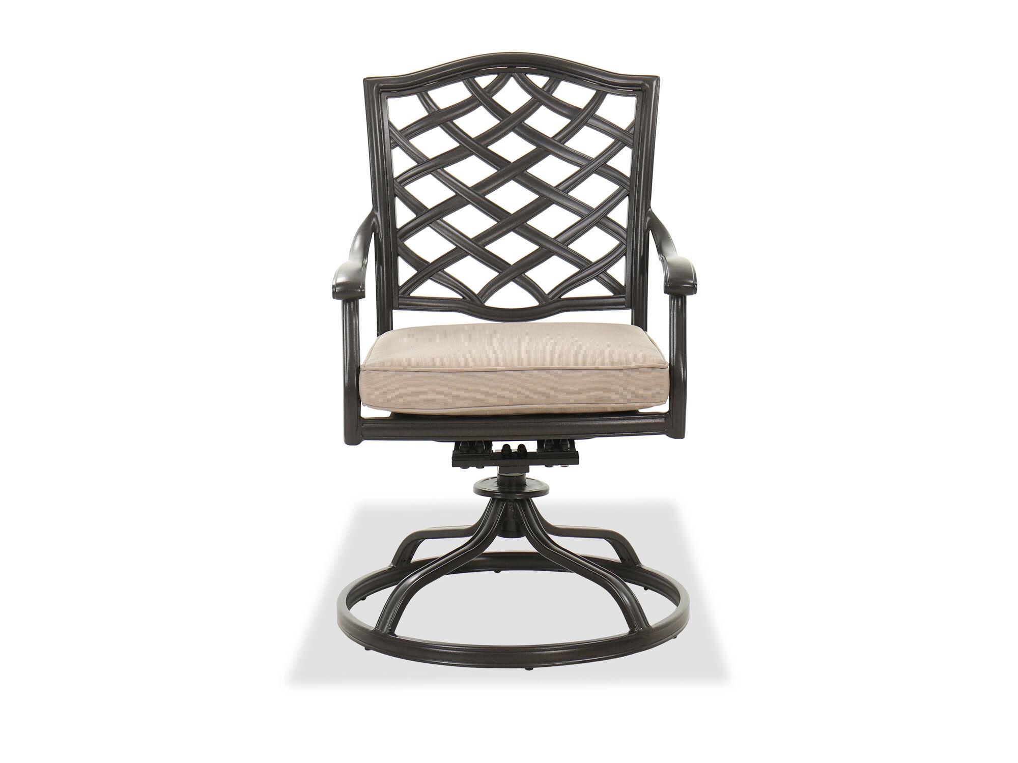 swivel rocker cast aluminum chair in