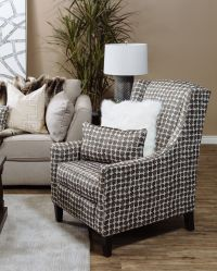 """Patterned Contemporary 30"""" Wingback Accent Chair 